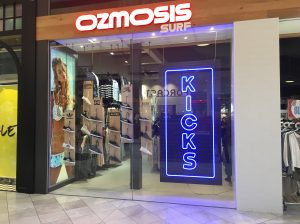 Kicks Window Display LED Neon