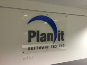 Planit reception sign