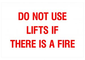 DO NOT USE LIFTS