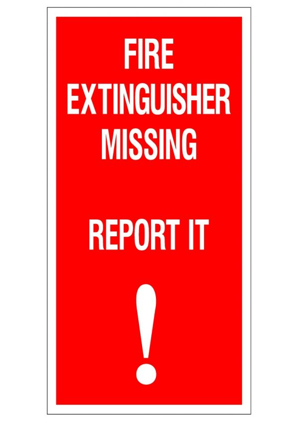 FIRE EXTINGUISHER MISSING REPORT IT