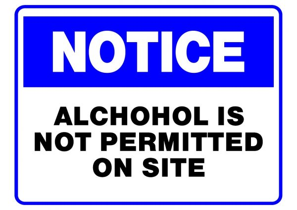 NOTICE NO ALCOHOL