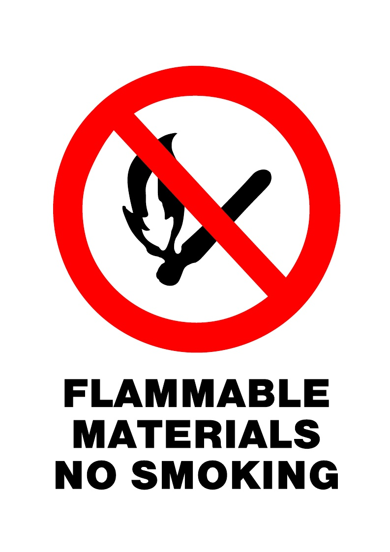 Prohibited Flammable Mat No Smoke Swift Signs