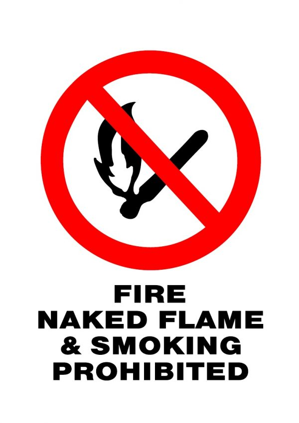 PROHIBITED NAKED FLAME