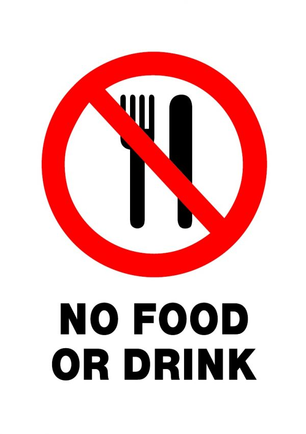 PROHIBITED NO FOOD