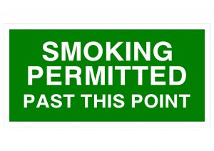 SMOKING PERMITTED PAST